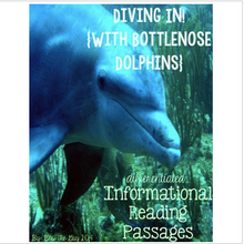 Load image into Gallery viewer, Bottlenose Dolphins {Differentiated Reading Passages & Questions}