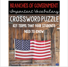 Load image into Gallery viewer, Branches of Government Crossword