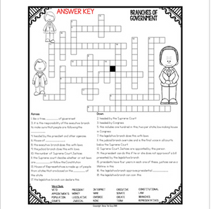 Branches of Government Crossword