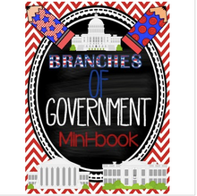 Load image into Gallery viewer, Branches of Government Mini Book
