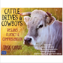 Load image into Gallery viewer, Cattle Movement Reading Fluency and Comprehension Task Cards