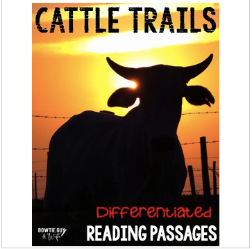 Cattle Trails Differentiated Reading Passages