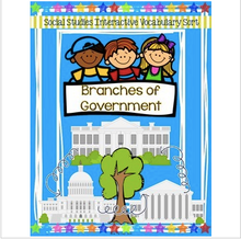 Load image into Gallery viewer, Branches of Government Sort {For Interactive Notebooks!}