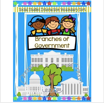 Branches of Government Sort {For Interactive Notebooks!}