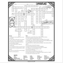 Load image into Gallery viewer, Camouflage Crossword for Adaptations & Ecosystems Vocabulary