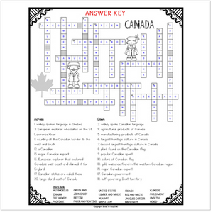 Canada Crossword