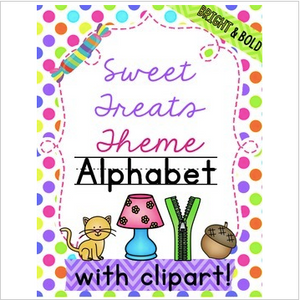 Candy Alphabet Sweet Theme