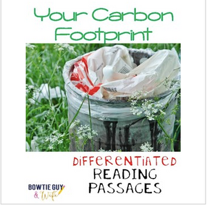 Carbon Footprint Differentiated Reading Passages & Questions