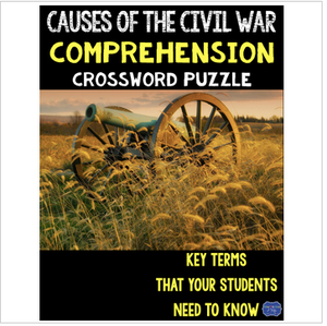 Causes of the Civil War Crossword