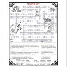 Load image into Gallery viewer, Causes of the Civil War Crossword