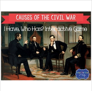 Causes of the Civil War Interactive Vocabulary Game