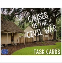 Load image into Gallery viewer, Causes of the Civil War Task Cards