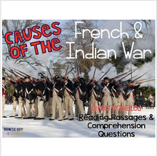 Load image into Gallery viewer, Causes of the French and Indian War: Reading Passages for SS Integration