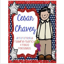 Load image into Gallery viewer, Cesar Chavez Differentiated Reading FLUENCY Passages & MAZES