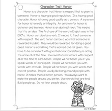 Load image into Gallery viewer, Character Traits: Honor Differentiated Reading Passages