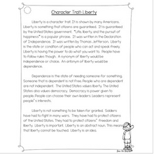 Load image into Gallery viewer, Character Traits: Liberty Differentiated Reading Passages