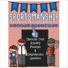 Load image into Gallery viewer, Character Traits: Sportsmanship Differentiated Reading Passages