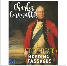 Load image into Gallery viewer, Charles Cornwallis Differentiated Reading Passages for British Generals