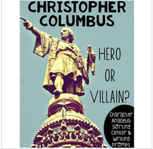 Load image into Gallery viewer, Christopher Columbus Character Study Center Activity: Hero or Villain?