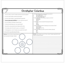 Load image into Gallery viewer, Christopher Columbus Diagram & Comprehension Questions