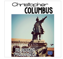 Load image into Gallery viewer, Christopher Columbus Nonfiction Differentiated Reading Passages & Questions