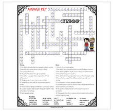 Load image into Gallery viewer, Citizenship Crossword