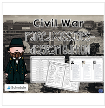 Load image into Gallery viewer, Civil War Diagram & Chart Based Paired Texts