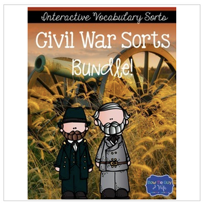 Civil War Interactive Vocabulary Sorts Bundle