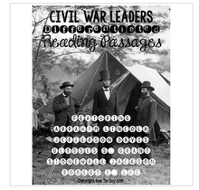 Load image into Gallery viewer, Civil War Leaders Differentiated Reading Passages