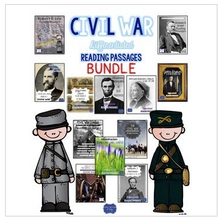 Load image into Gallery viewer, Civil War Passages Differentiated Leveled Texts Bundle