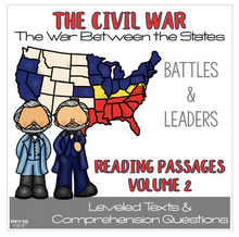 Load image into Gallery viewer, Civil War Passages VOLUME 2 Differentiated Leveled Texts Bundle
