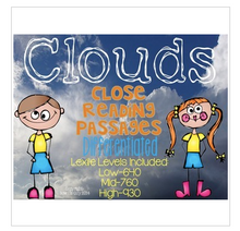Load image into Gallery viewer, Clouds {Differentiated Close Reading Passages & Questions}