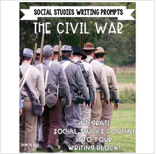 Load image into Gallery viewer, Civil War Writing Prompts