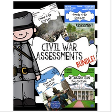 Load image into Gallery viewer, Civil War: Causes, Events, Leaders, & Reconstruction 4 TESTS INCLUDED!