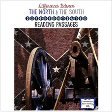 Load image into Gallery viewer, Civil War: Differences Between the North & South Differentiated Reading Passages