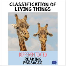 Load image into Gallery viewer, Classification of Living Things Differentiated Reading Passages & Questions