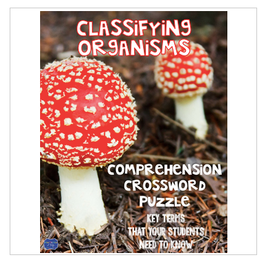 Classifying Organisms Comprehension Crossword