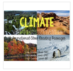Climates {Differentiated Close Reading Passages & Questions}