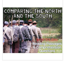 Load image into Gallery viewer, Comparing the North and South in the Civil War Reading Passages Leveled Texts