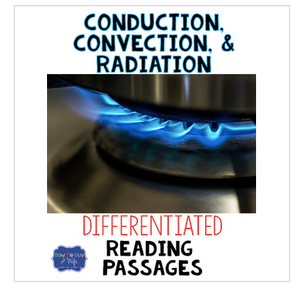 Conduction, Convection, and Radiation Reading Passages & Questions
