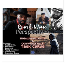 Load image into Gallery viewer, Civil War Perspectives Task Cards for Reading Fluency & Comprehension