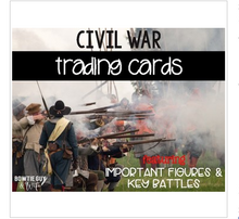 Load image into Gallery viewer, Civil War Trading Cards