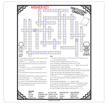 Load image into Gallery viewer, Constitutional Convention Crossword