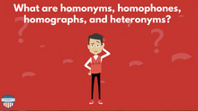 Load image into Gallery viewer, Homophones, Homonyms, Homographs, Heteronyms Reading Skill Video
