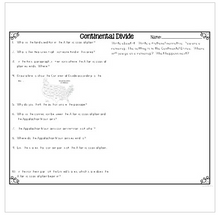 Load image into Gallery viewer, Continental Divide {Differentiated Close Reading Passages & Questions}