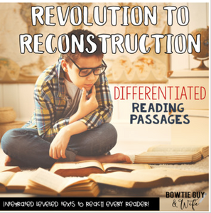 Social Studies Passages: Revolution to Reconstruction Nonfiction Reading bundle