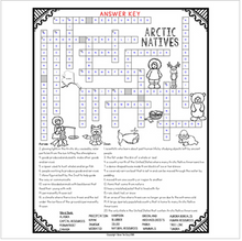 Load image into Gallery viewer, Inuit Native Americans Comprehension Crossword
