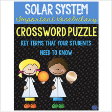 Load image into Gallery viewer, Solar System Crossword Comprehension Puzzle