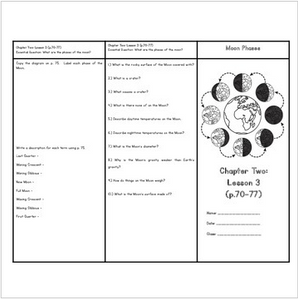 Cycles and Patterns in Space (Houghton Mifflin 4th Grade Science Chapter 2)