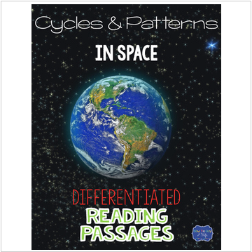 Cycles and Patterns in Space Differentiated Reading Passages & Questions